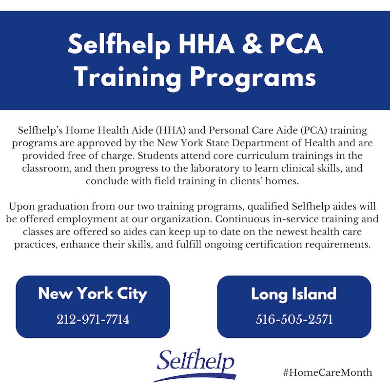 Selfhelp On Twitter Thinking About Becoming A Home Health Aide