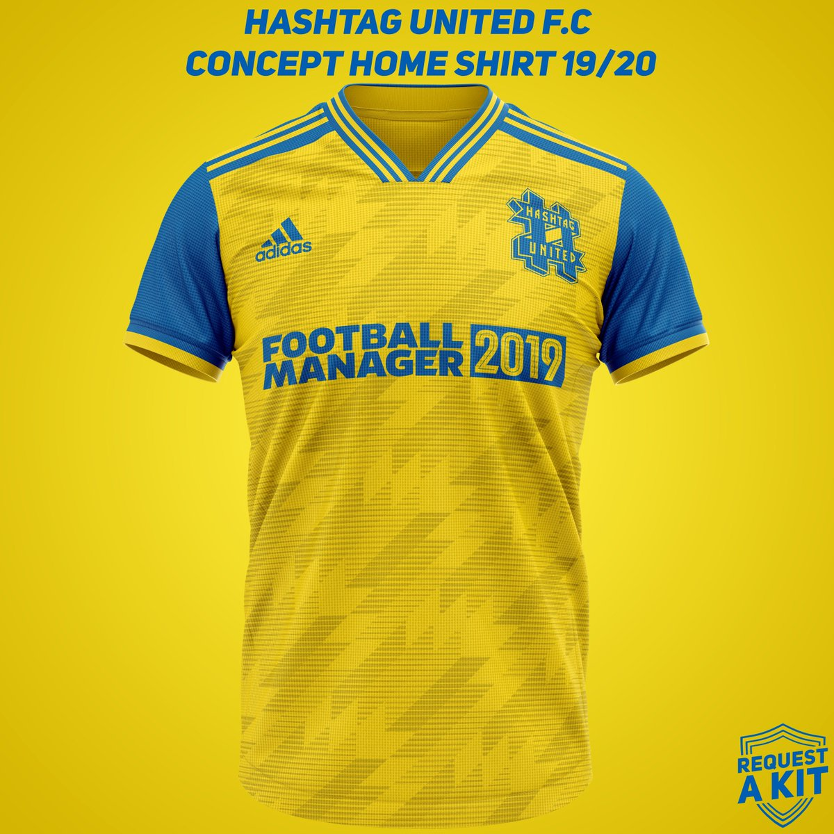 8339b9f58 Hashtag United F.C Concept Home and Away shirts 2019-20 (requested by   InTheMixer FM)  HereToCreate  FM19  WeAreTheCommunity Download for your  Football ...