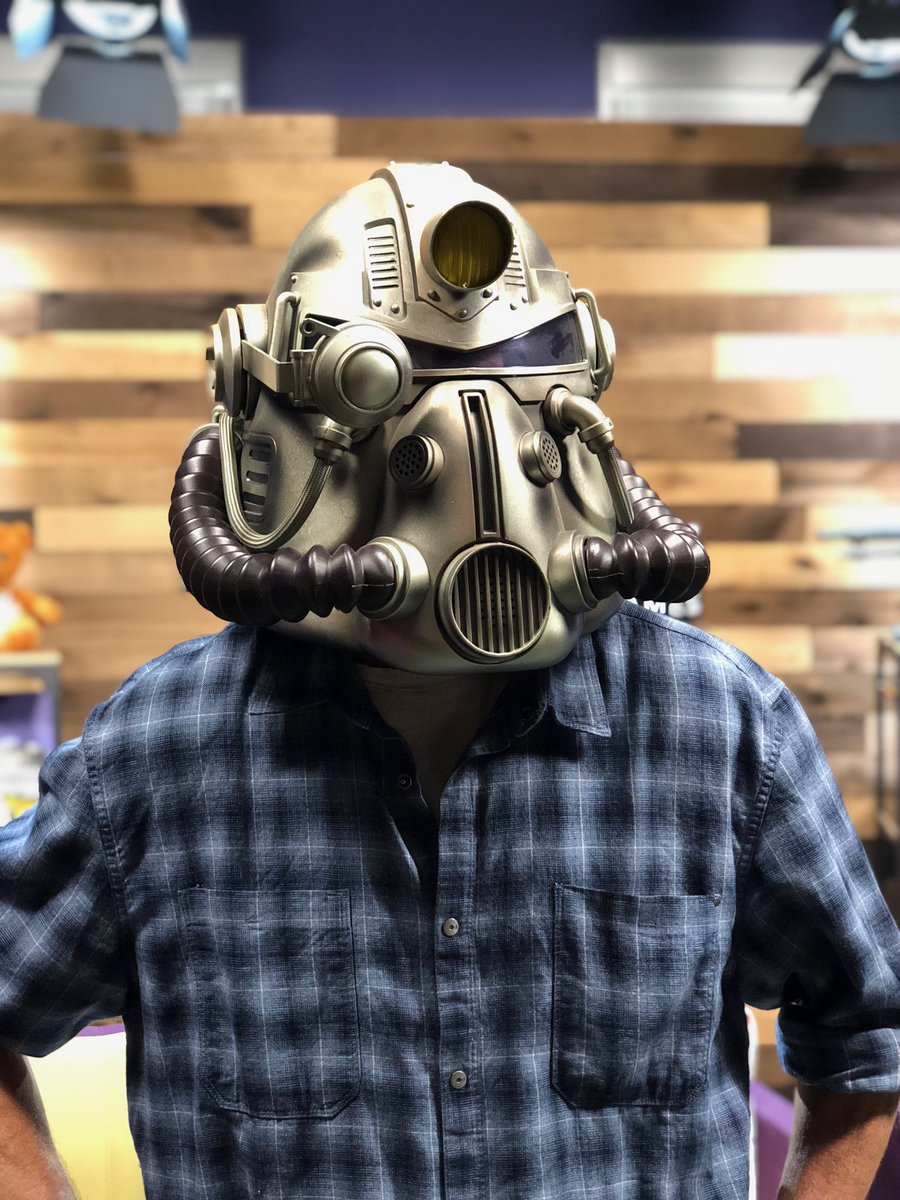 Our own @igTedPrice has joined the Brotherhood of Steel. (Cc: ⁦@bethesda ⁦@Fallout⁩ ⁦@DCDeacon⁩ ⁦@gstaffinfection⁩)