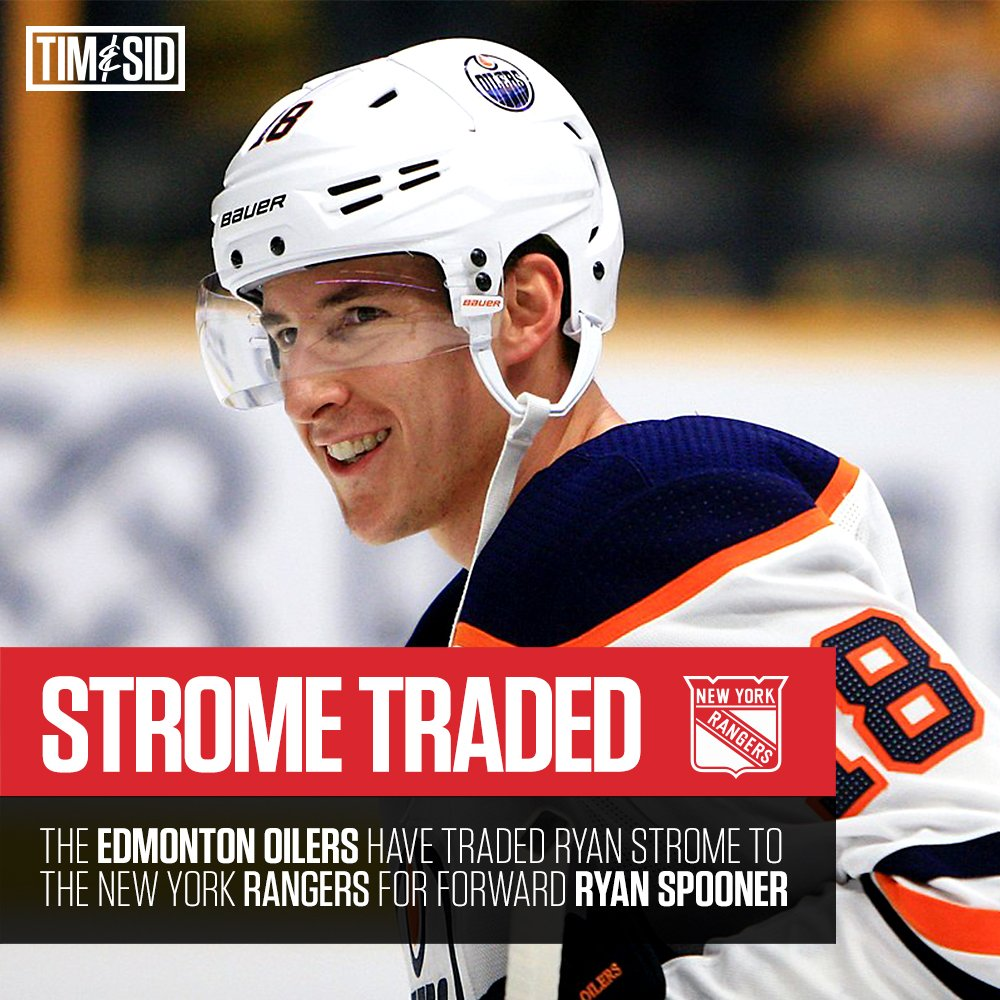 Ryan Strome of the #Oilers is on his way to the #NYR in exchange for Ryan Spooner. #NHL #Trade