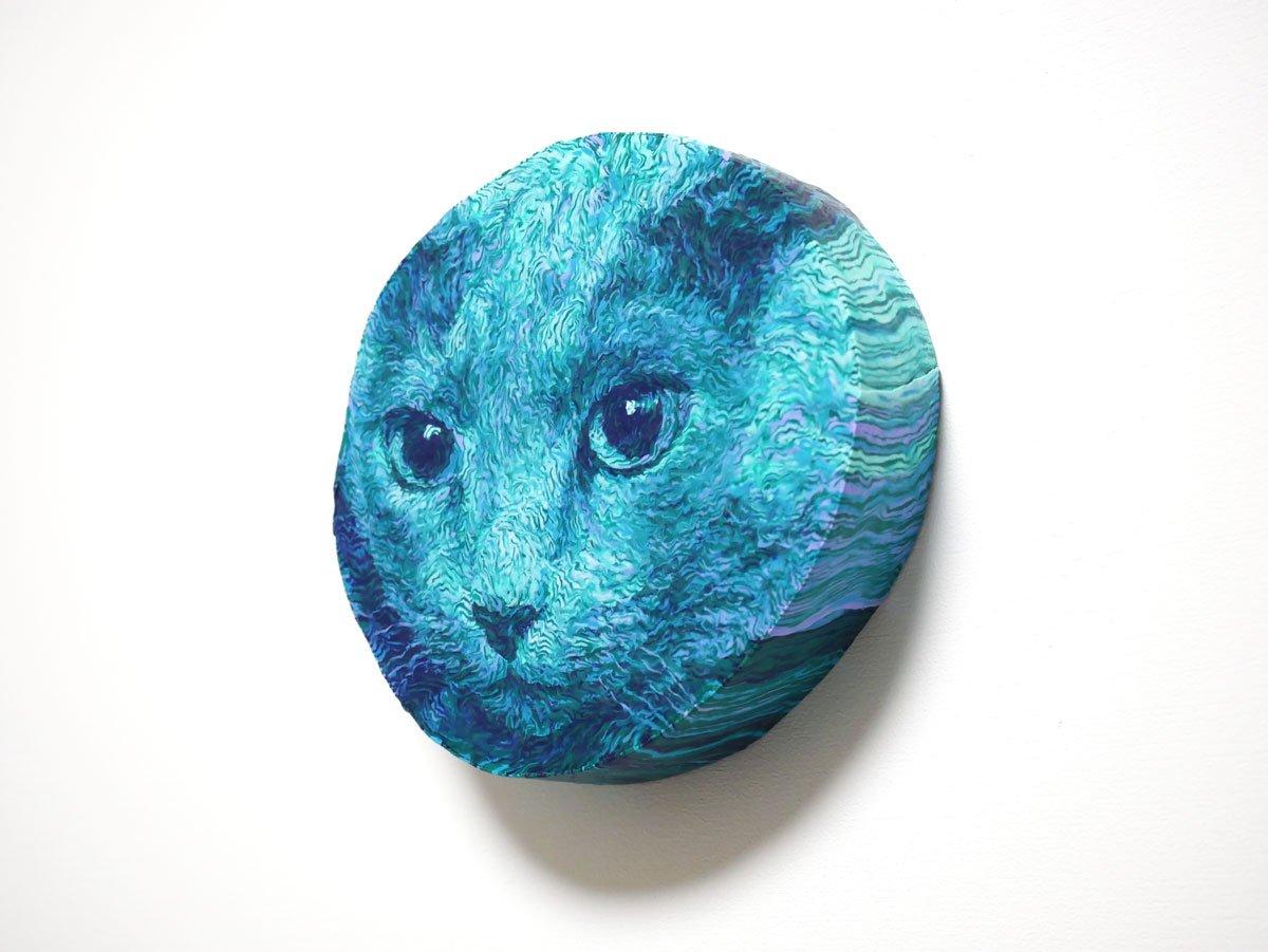 #私を布教してひもの様に細くした粘土を1本1本ならべて動物をモチーフに平面作品をつくっています。よろしくお願い致します(^^)