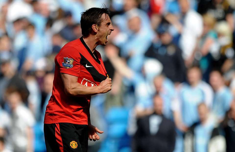 Gary Neville,I&#39;m a United fan and I can&#39;t play for Manchester City, I can&#39;t play for Leeds and I can&#39;t play for Liverpool. That&#39;s just written in stone. You just don&#39;t play for those clubs, irrespective of what happens! #MUFC <br>http://pic.twitter.com/O3cX2kT8cL