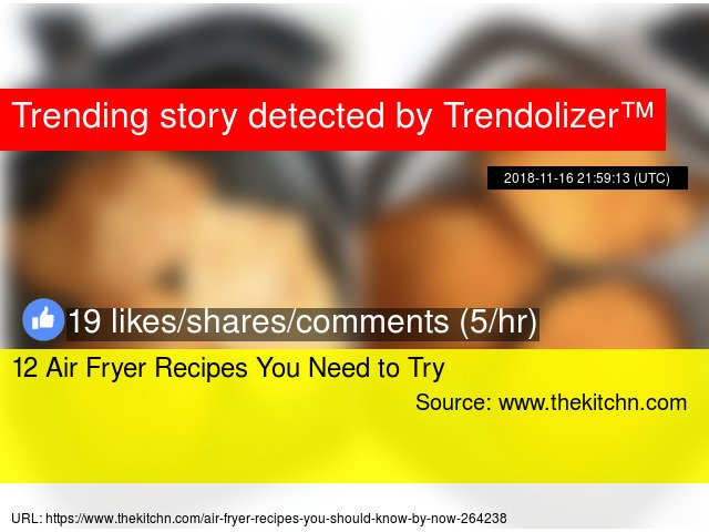 12 Air Fryer Recipes You Need to Try https://t.co/poQjbhO0Nb https://t.co/HGZhLacEFs