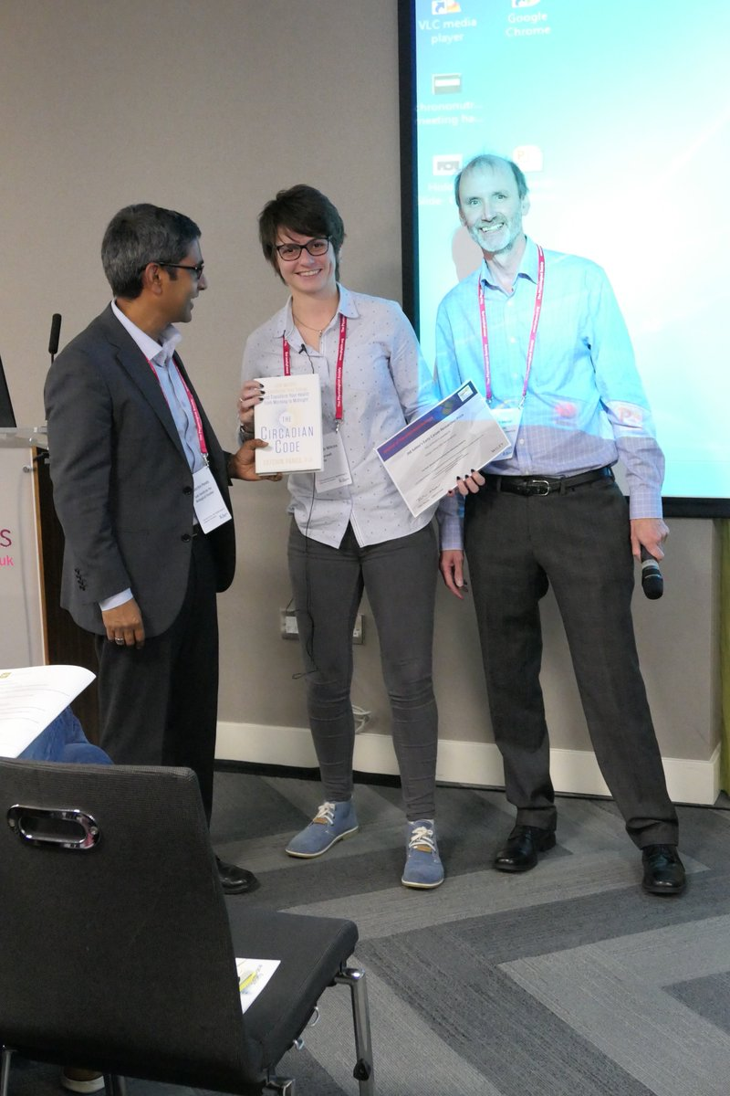 Ashleigh Wilcox being presented with her certificate with Julian Mercer, JNE Editor