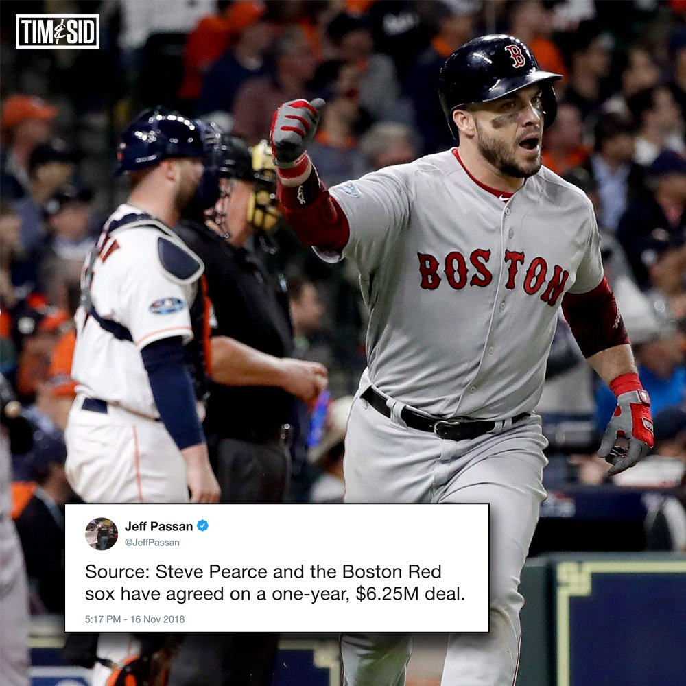 World Series MVP Steve Pearce is back in Boston for another year. #MLB ⚾️