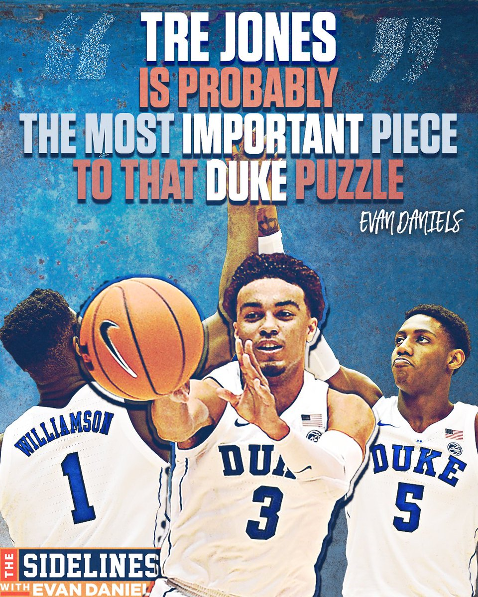 DUKE: The force to be reckoned with. Listen to more of @EvanDaniels' thoughts on the latest and greatest on The Sidelines! SUBSCRIBE on iTunes 🎙🏀
