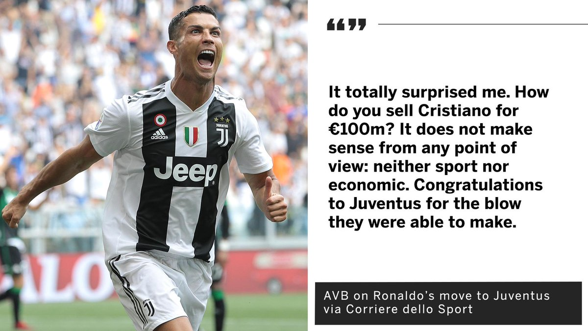 AVB cant believe Real Madrid sold Cristiano Ronaldo for just €100m.