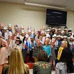 Image for the Tweet beginning: Kindergarten Thanksgiving performance today! #goblegoble