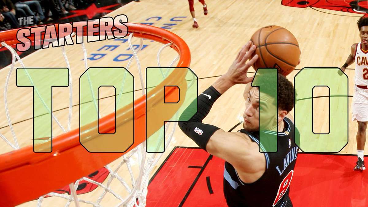 In #TheStarters Top Ten Plays of the week, @ZachLaVine dazzles with two breakaway dunks, @tysonchandler skies for the game-saving block, and @DeMar_DeRozan finishes with a smooth 360 layup!
