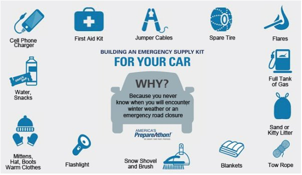 Getting ready to travel for the holidays? Before the you go make sure your vehicles are stocked with the supplies you might need. #nvwx