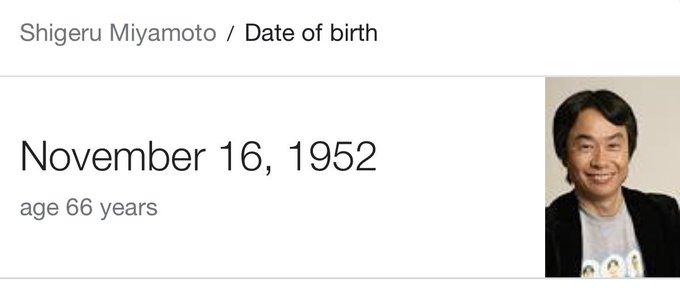 Happy birthday Shigeru Miyamoto