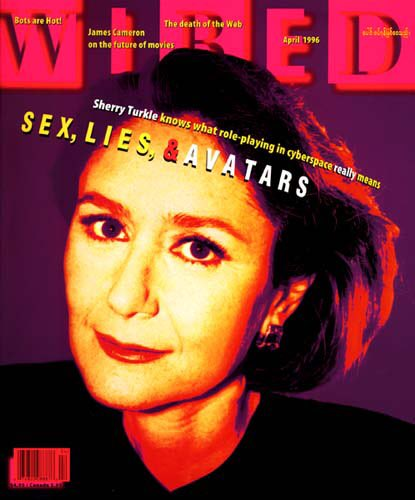 Pretty cool that I'm about to go on stage at @CTForum with @STurkle. Here she is on cover of @Wired in 1996.