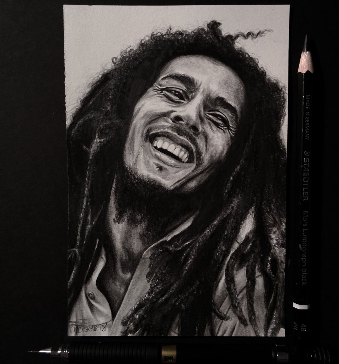 Christelle bilodeau on twitter mini drawing of bobmarley