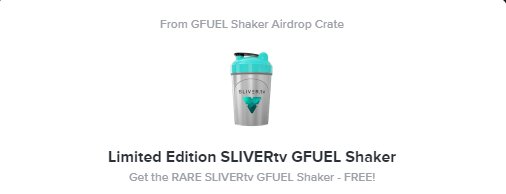 OMG I just won a @GFuelEnergy Shaker cup from @SLIVERtv360! 💪💪