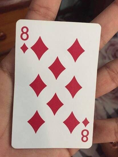 What age were you when you first saw the 8 in the middle of the 8 of diamonds? 😯