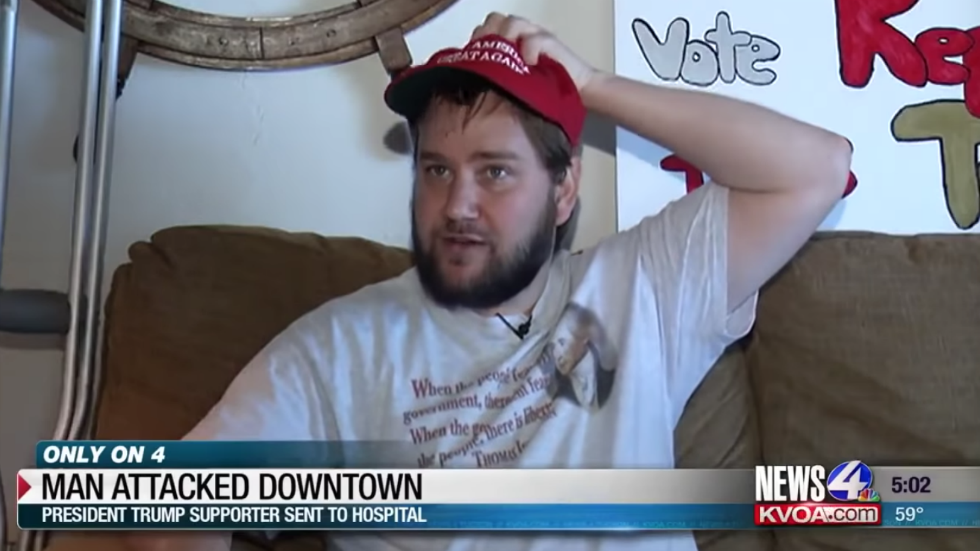 Trump supporter assaulted while wearing MAGA hat https://t.co/Z5XCmG3z0K https://t.co/esYrdYJRSS