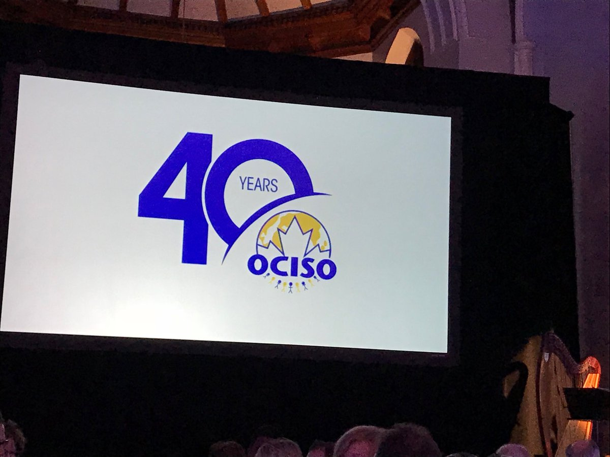 Blessed to share our special night with our community partners @HireImmOttawa #OCISO40