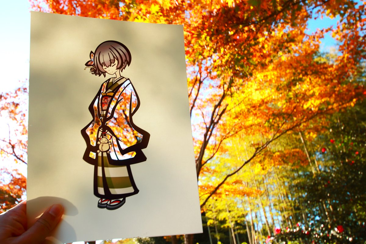 Japan's Golden Autumnal Leaves Color in This Artist's Kimono Drawings