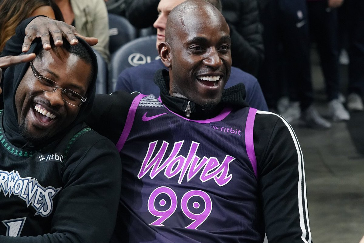 Party like it's 1999.  WELCOME BACK, KG!!! 🐐