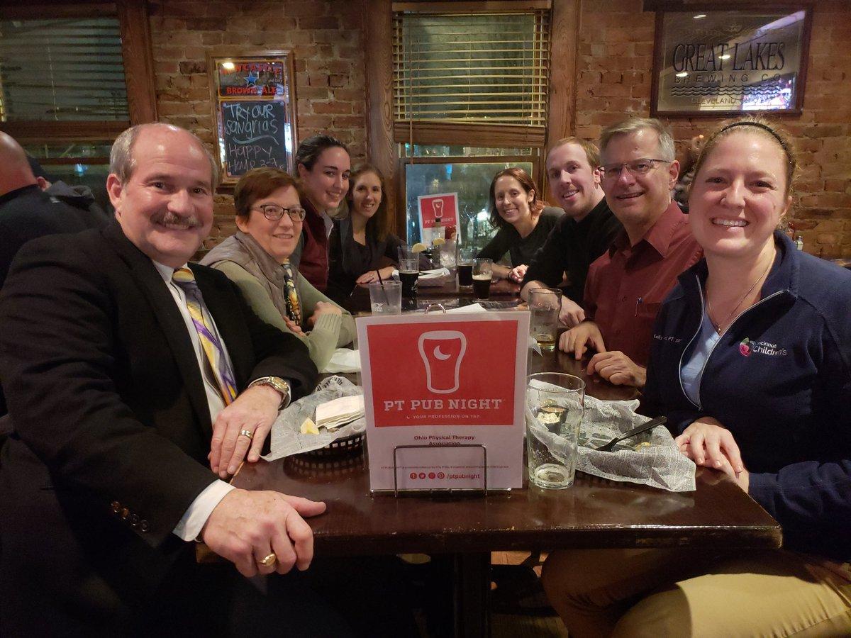 Enjoying PT Pub Night in Cincinnati with OPTA friends! @Ohio_PT  @PTPubNight