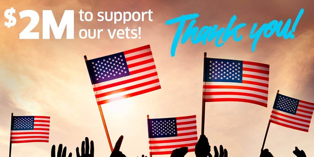 Thanks to your generosity, youve raised over $2 million (and counting!) for six amazing veteran organizations. Head to our blog to learn more about each charity: bit.ly/Veterans-Day-I…