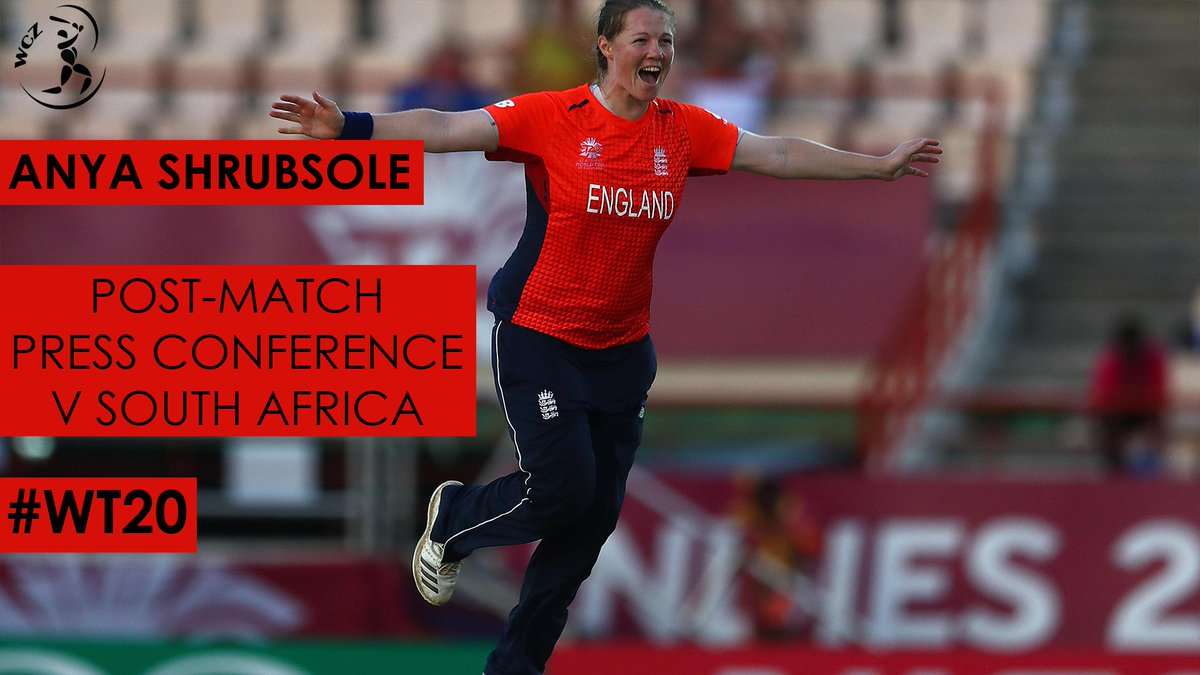 England's Anya Shrubsole speaks on Natalie Sciver as a replacement for Katherine Brunt.  #WT20 #BreakingBoundaries https://t.co/8urWQit10H