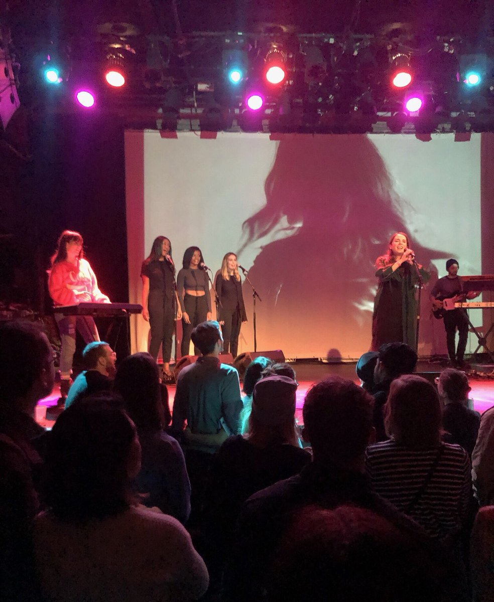 Some of our students got a chance to perform with #MrLittleJeans last night at @MusicHallofWB #LIUBrooklyn #musictech #bbmg