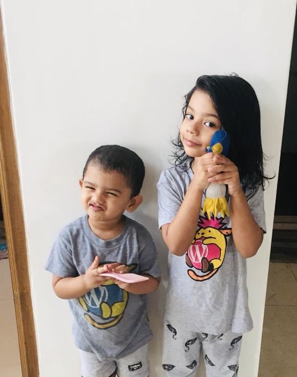 test Twitter Media - My daughters are saying Hi to all @WordCampKL attendees from home! #WCKL #WCKL18 #WordCamp #WordCampKL #KualaLumpur #WordPress https://t.co/2jzHtRrSEJ