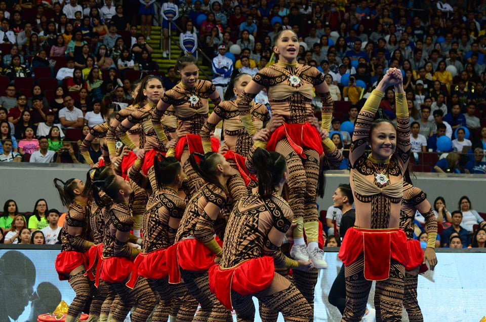 @cedrickkbasco The UE Pep Squad opens the #UAAPCDC2018  with a Pintados Festival themed performance | via Mark Demayo, ABS-CBN News https://t.co/L