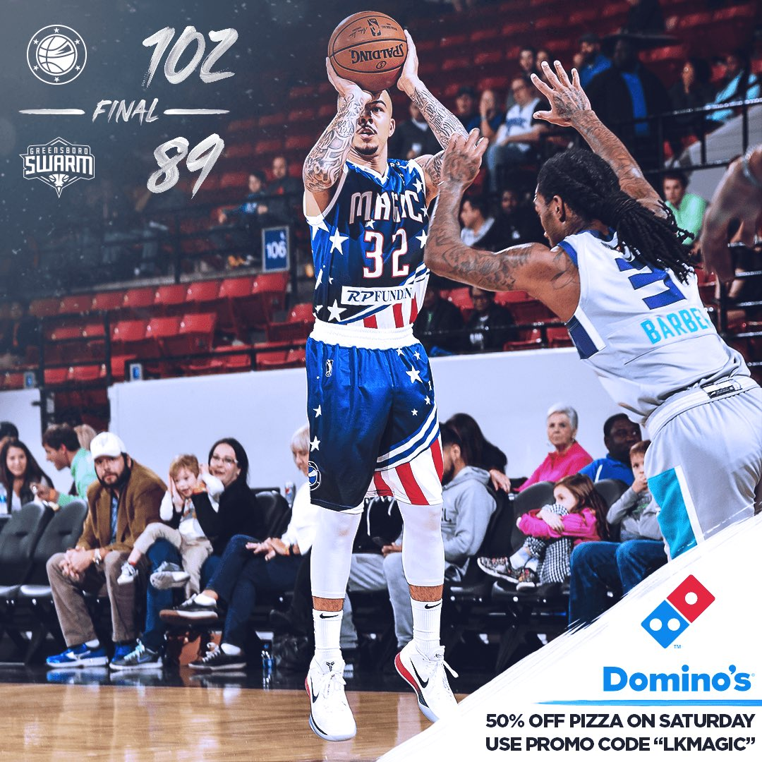 Magic get the W and score 💯+ 🛫 for round 2 vs the @greensboroswarm