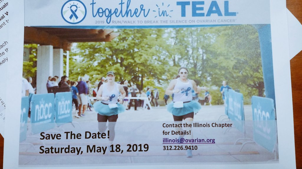 Tyra Smith On Twitter Team Teal4tyra The Ovarian Cancer Walk Is 6 Months Away The Walk Will Be At The United Center May 18 2019 Knowovarian Https T Co Lf906peqy3