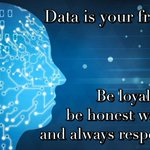 Image for the Tweet beginning: Data is your friend. Be