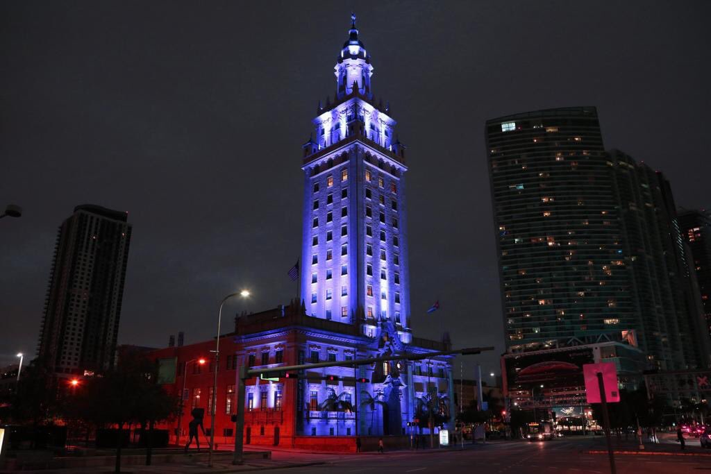 Lighting up our town in #OurColores. (via: @MDCollege)