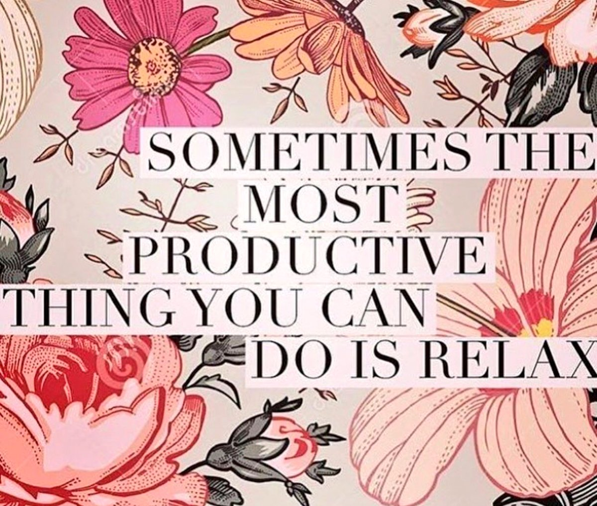 Saturday Friendly Reminder...Sometimes the most productive thing you can do is relax  Take time to enjoy the simple things  #SaturdayMorning #weekendvibes #chillax<br>http://pic.twitter.com/puAm5edlN7