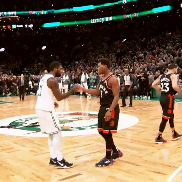 Point guard respect ��  Kyrie Irving & Kyle Lowry embrace postgame! #PhantomCam #ThisIsWhyWePlay https://t.co/YZAFhS6zOk