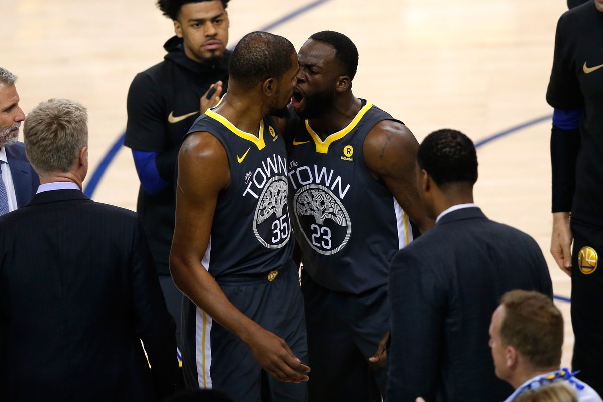 We don't need you. We won without you. Leave. 😳 Draymond told KD that the team didnt need him to win and then called him a b*tch a few times: trib.al/5AHTDHW