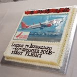 Image for the Tweet beginning: #FlyAI: #Inaugural captures of #AirIndia