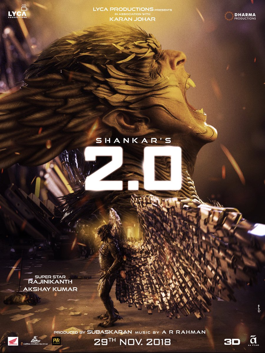 The war begins on 29th November, humans are you ready? #2Point0FromNov29  @2Point0movie @shankarshanmugh @DharmaMovies @LycaProductions #2Point0