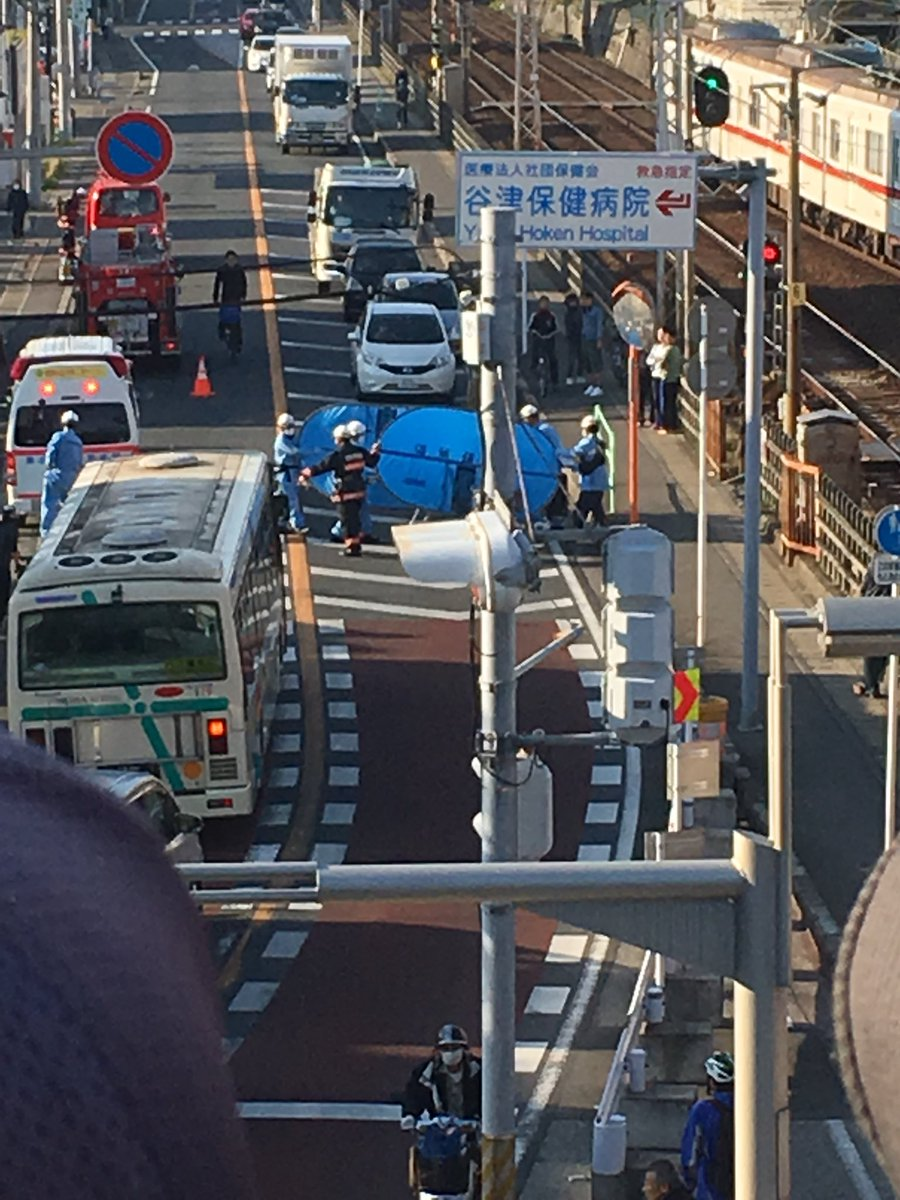 京成線の船橋競馬場駅~谷津駅間で人身事故の現場画像