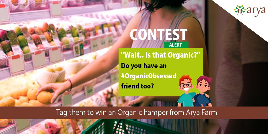 Tag one or more organic obsessed friends and like this post to stand a chance to win an #organic hamper from Arya Farm! #Contest #ContestAlert #Giveaway #TagaFriend #OrganicObsessed #Foodie #OrganicChefs #organicfood #Healthy #Fitness #Fit #HealthyEating<br>http://pic.twitter.com/qbAU221OJ6