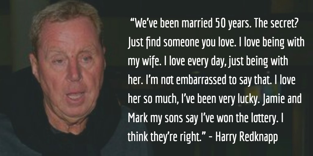 Find someone who loves you the way Harry Redknapp loves his wife Sandra #Love #ImACeleb