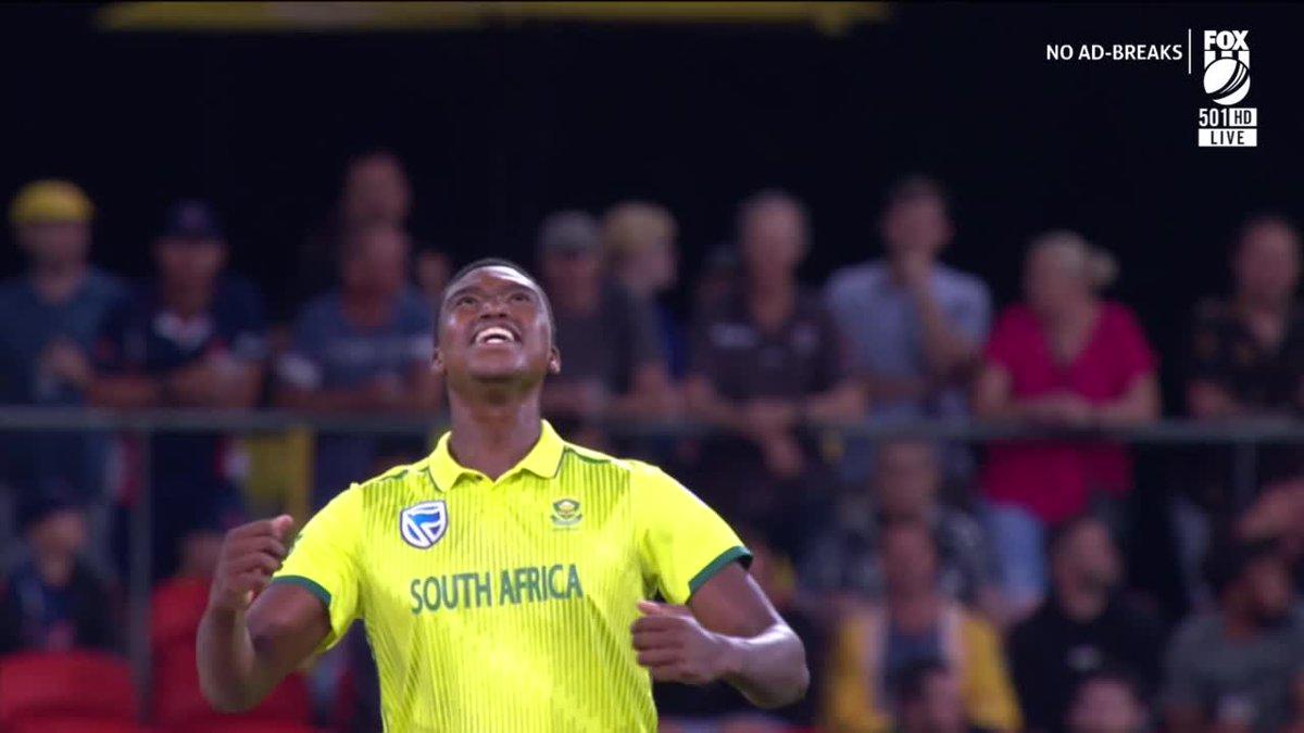 RT @cricketcomau: We think Ngidi enjoyed this...  WATCH LIVE: https://t.co/6gsfKtYAfZ #AUSvSA https://t.co/qCo1YFUBwV