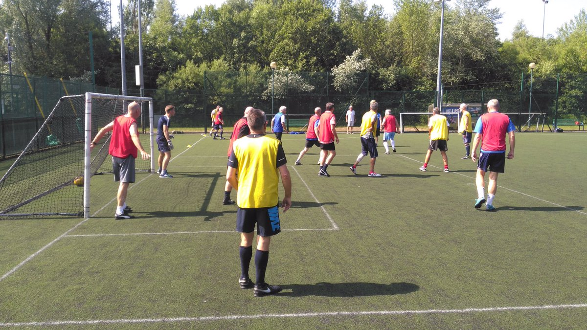 Arguably we set a new world record yesterday @BoltonArena @WalkingFootball. Of course on our larger 3G pitch &gt; 13-a-side, 4 touch only and a type of match that requires positional discipline to work well...  <br>http://pic.twitter.com/LA7jY4s5CY