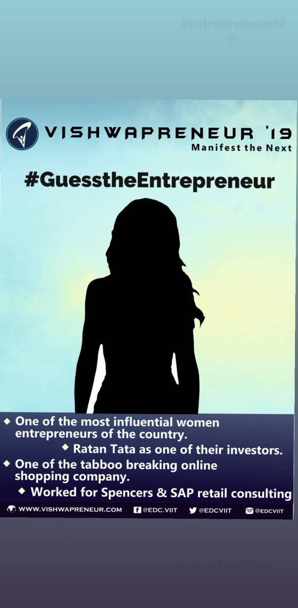 #GuesstheEntrepreneur and win exciting rewards! All you have to do is to retweet this tweet with comment and tag the entrepreneur you think would be! Look at clues in the image and start tweeting ! #Entrepreneurship  #ContestAlert  #competition  #Vishwapreneur<br>http://pic.twitter.com/O6UIL0HhBV