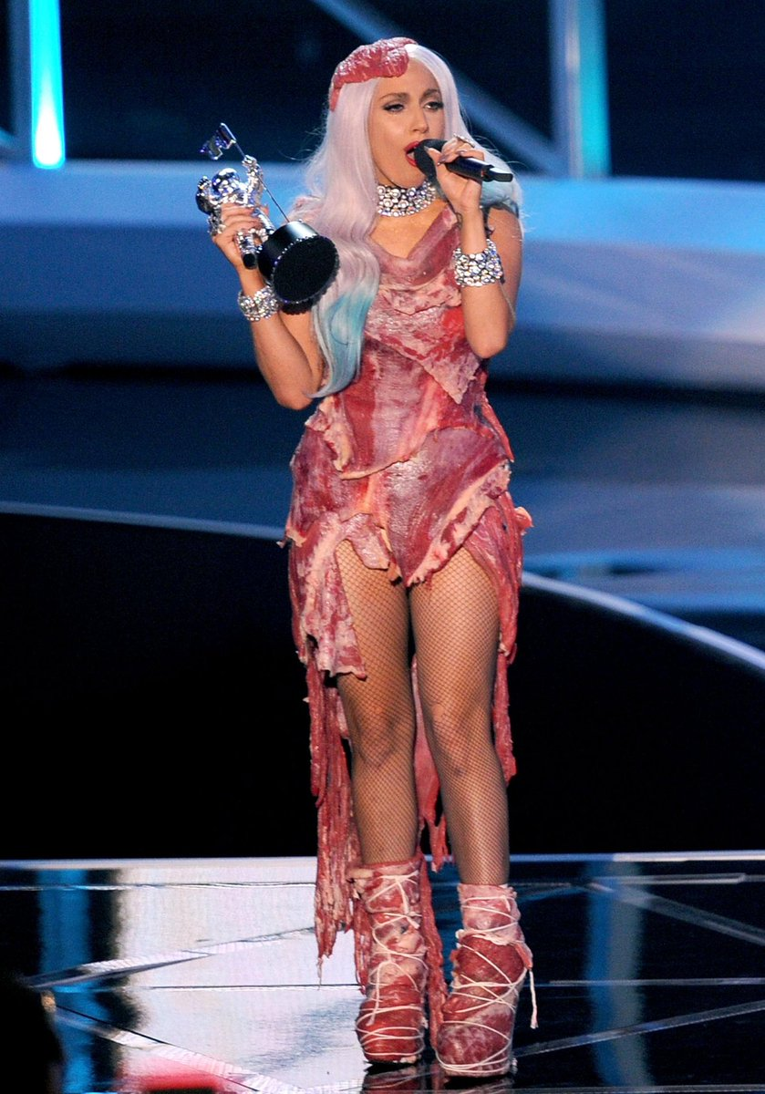 Image result for Lady Gaga's meat dress