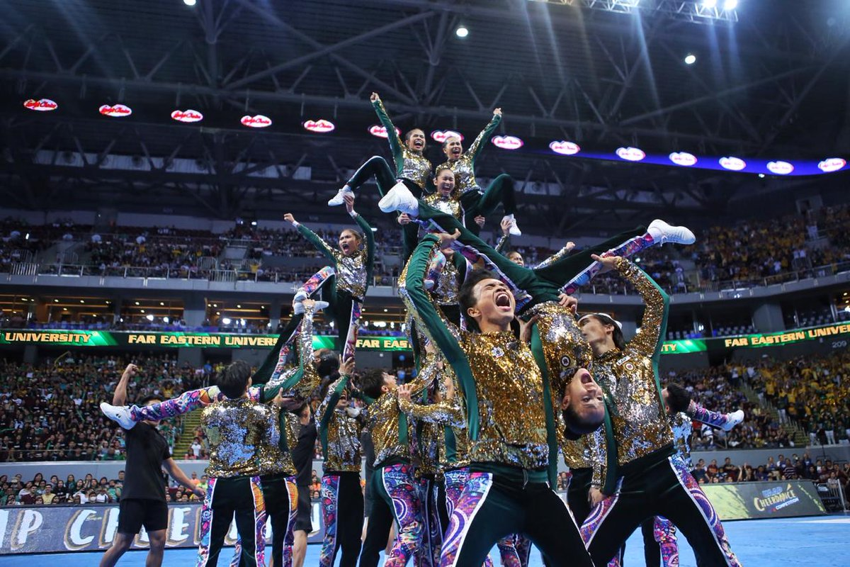Heart if you're rooting for the FEU Cheering Squad. #FEUGotTheFunk  #FunkyTam   #UAAPCDC2018 📸 @tamayotristan
