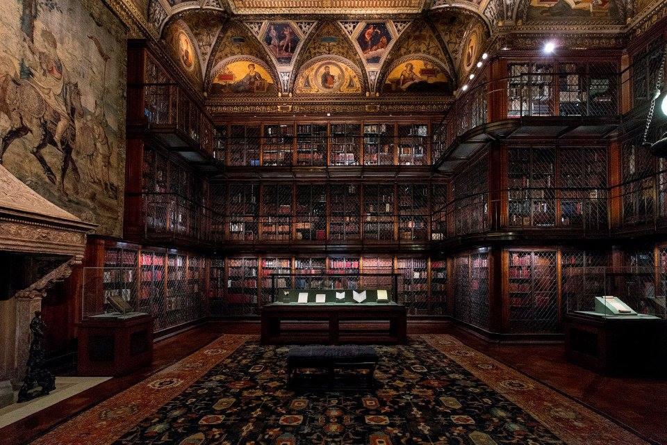 ニューヨークのモーガン図書館博物館。 醸し出す雰囲気すごい