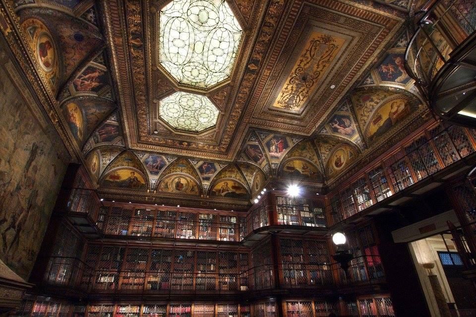 ニューヨークのモーガン図書館博物館。<br>醸し出す雰囲気すごい