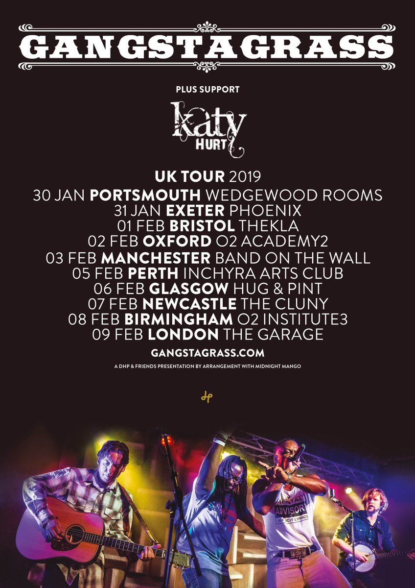 Breaking News 💥🎶🧡 Im extremely excited to announce that Ill be joining @gangstagrass on their UK tour in 2019!! Cant think of a better way to kick of the year. See ya on the road! K x