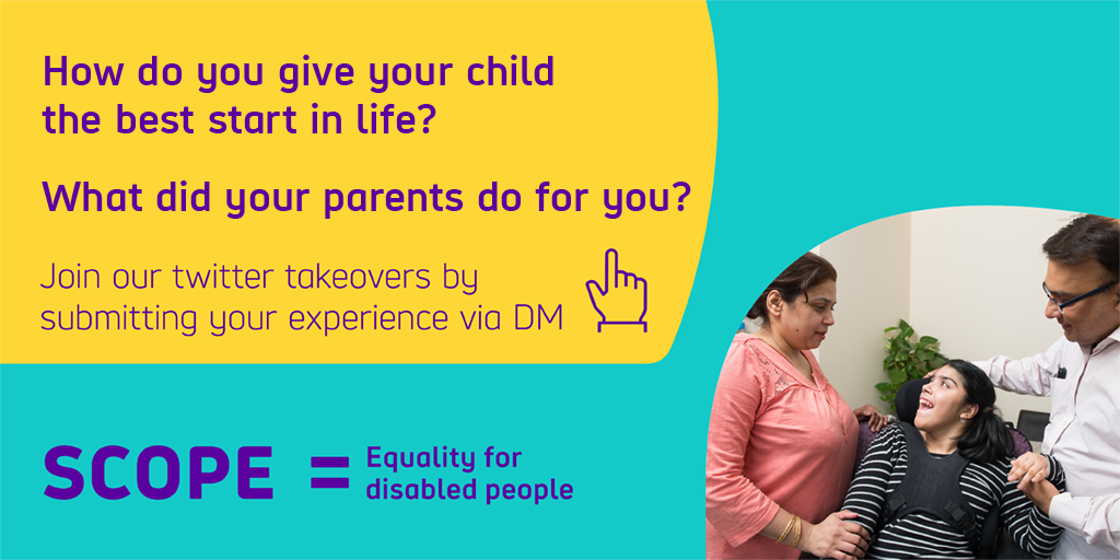 Our big Twitter takeover needs you! We want to know what your parents did for you to give you the best start in life. DM us your experiences and photos and we'll be tweeting them throughout the day on Monday 3rd October.